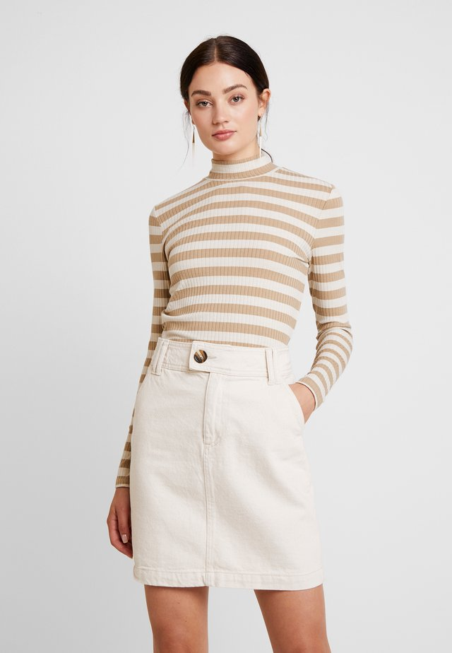 BERRALN STRIPE TURTLE NECK - Long sleeved top - portabella