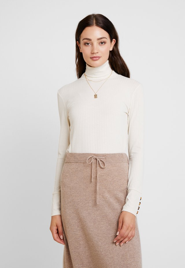 DALINLN ROLLNECK - Long sleeved top - warm off white