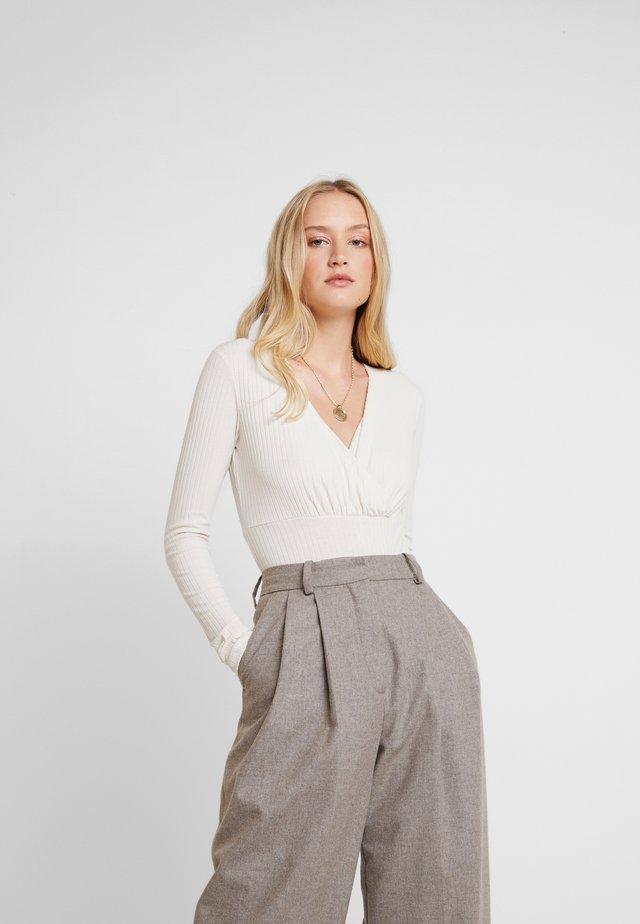 DALINLN BODYSTOCKING - Bluzka z długim rękawem - warm off white