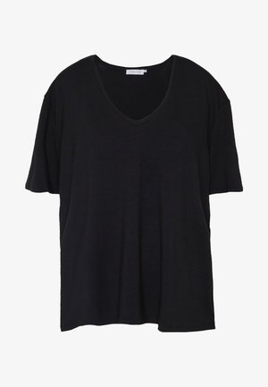 LANIELN V-NECK - T-shirt basique - pitch black