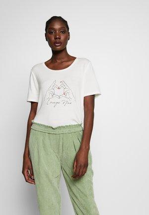 TILDELN - T-shirts med print - chalk