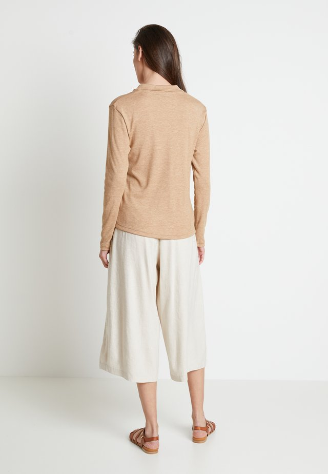 DREAMIELN - Long sleeved top - camel melange