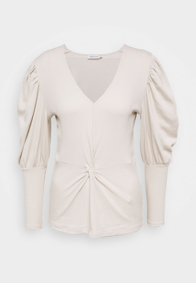 ALLISONLN KNOT BLOUSE - Long sleeved top - rainy day