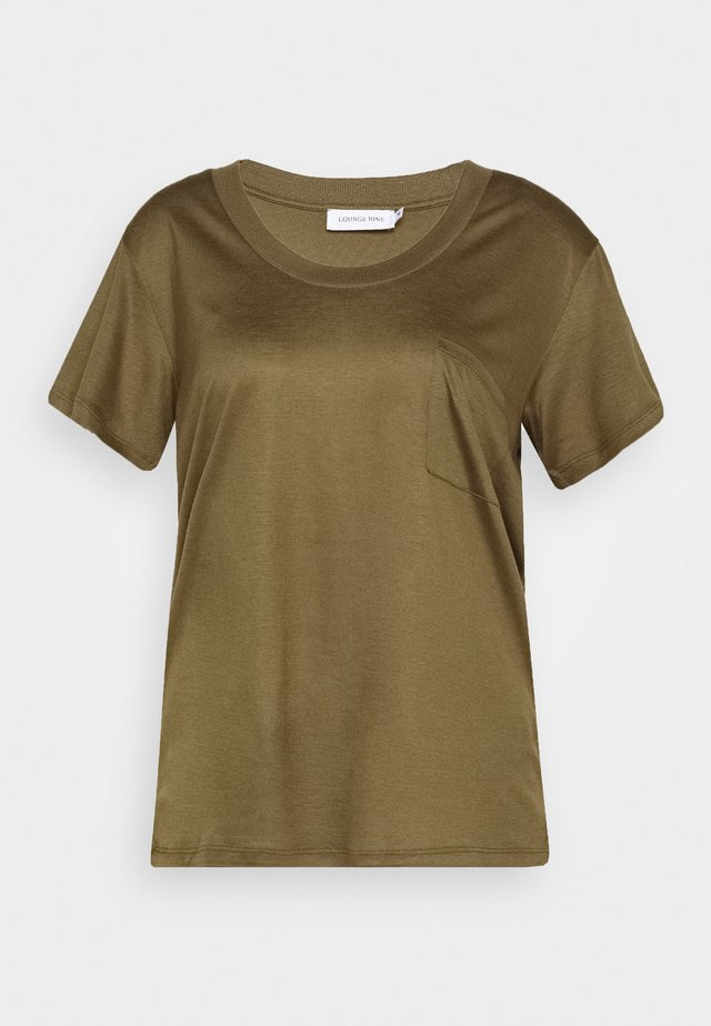 MOLLY DEEP ONECK - Basic T-shirt - beech
