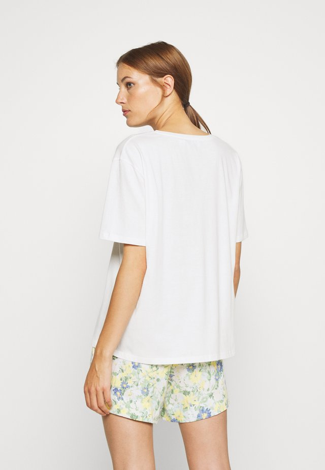 HERMIONE V NECK - T-shirt - bas - snow white