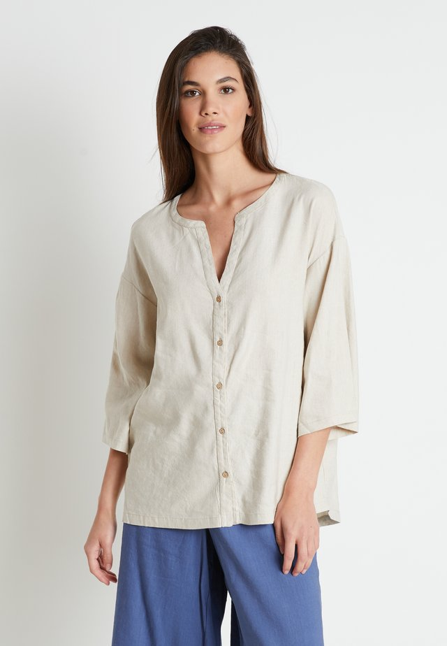 LAUREN - Button-down blouse - linen melange