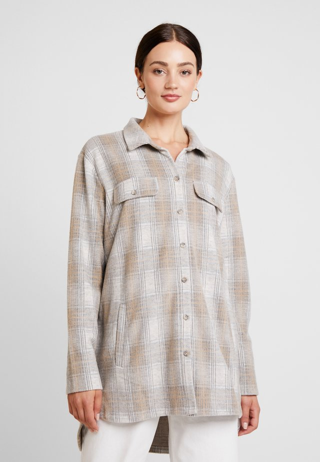 CHICI - Button-down blouse - light grey melange