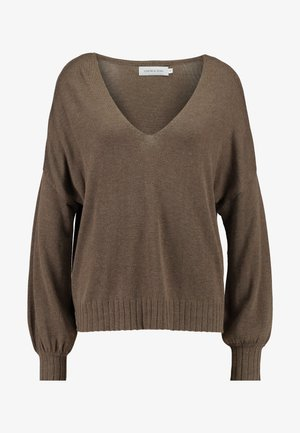 SUNNYLN - Pullover - major brown melange