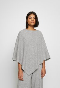 Lounge Nine - NOELLN PONCHO - Poncho - light grey melange - 0