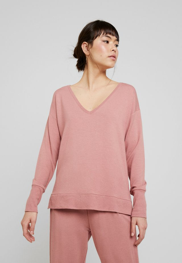 HUXIELN - Long sleeved top - old rose