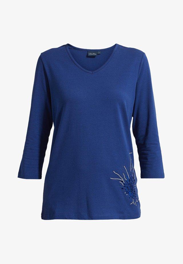 MIT TOLLEM DEKOR - T-shirt à manches longues - midnight blue