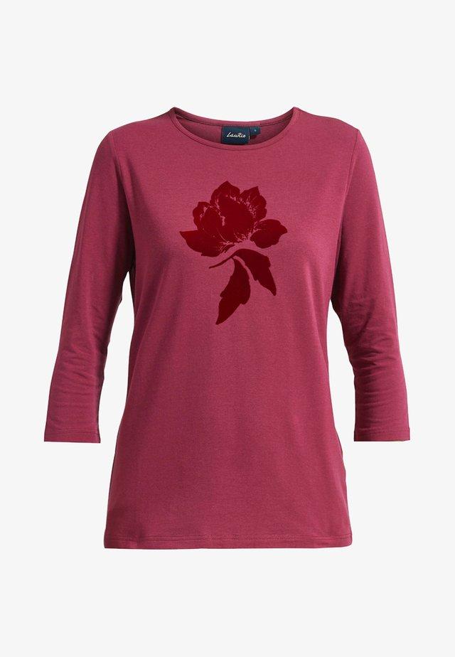 LOREN MIT PRINT - T-shirt à manches longues - rose