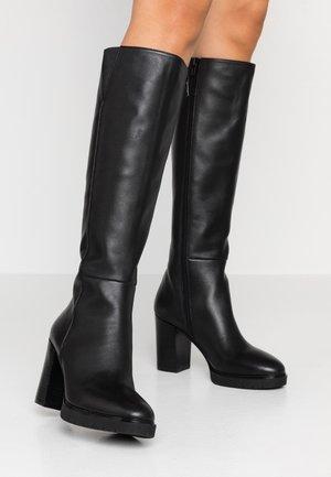 ALLY - Boots med høye hæler - black