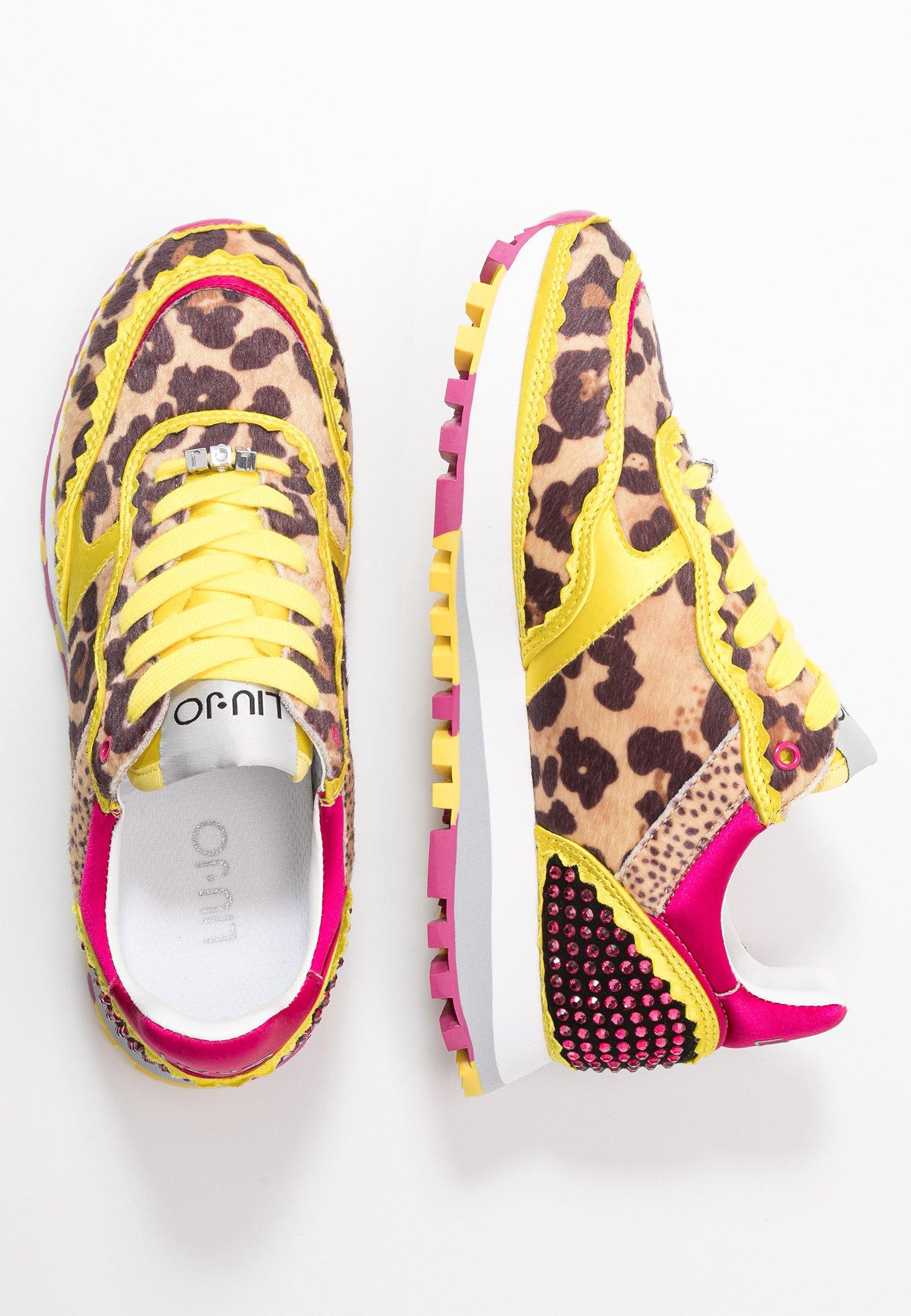 Liu Jo Jeans Sneakersy niskie - yellow/fuxia