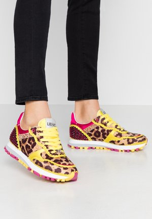 Baskets basses - yellow/fuxia