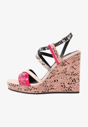 LUCY  - Højhælede sandaletter / Højhælede sandaler - rose