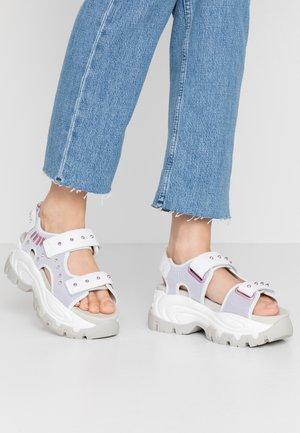 WAVE  - Platform sandals - white