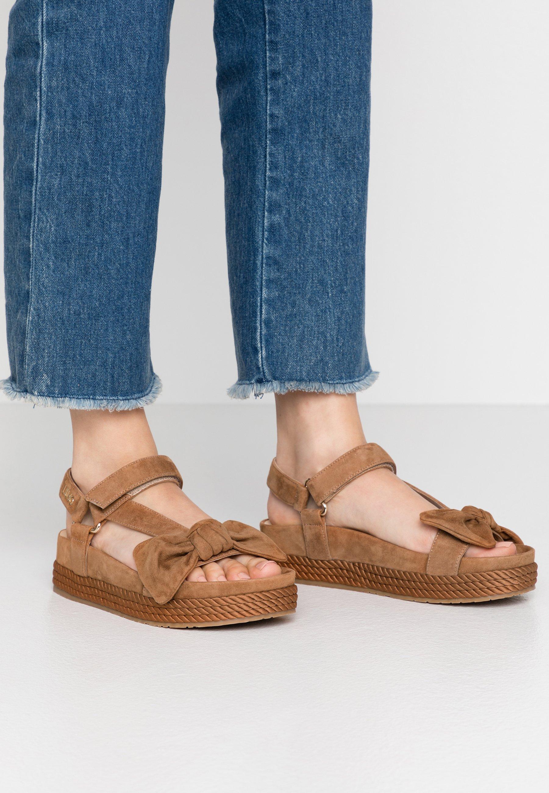 Liu Jo Jeans PATTY - Sandały na platformie - tan