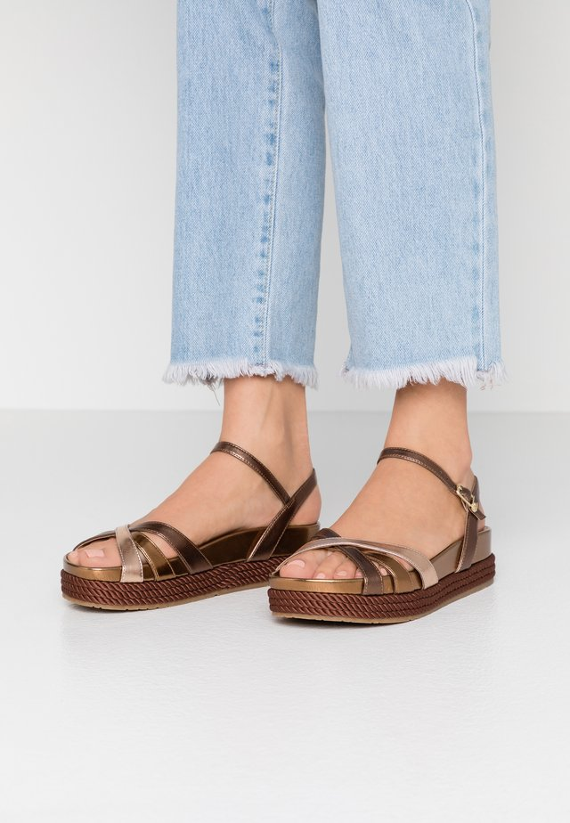PATTY  - Platform sandals - brass