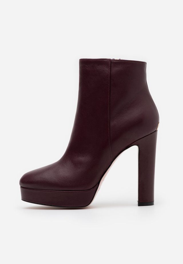 High heeled ankle boots - new marsala