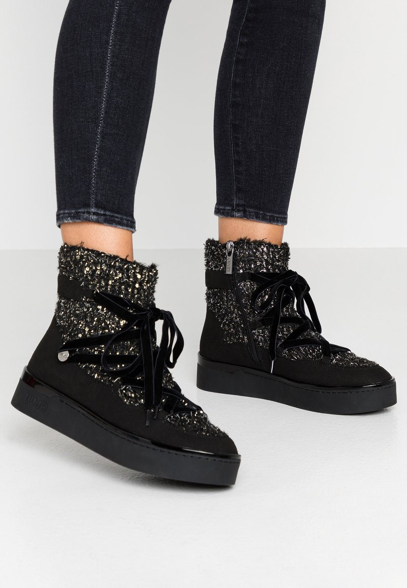Liu Jo Jeans - SILVIA - Lace-up ankle boots - black