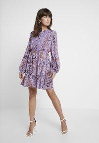 Liu Jo Jeans - ABITO SHORT DRESS - Skjortklänning - purple - 1