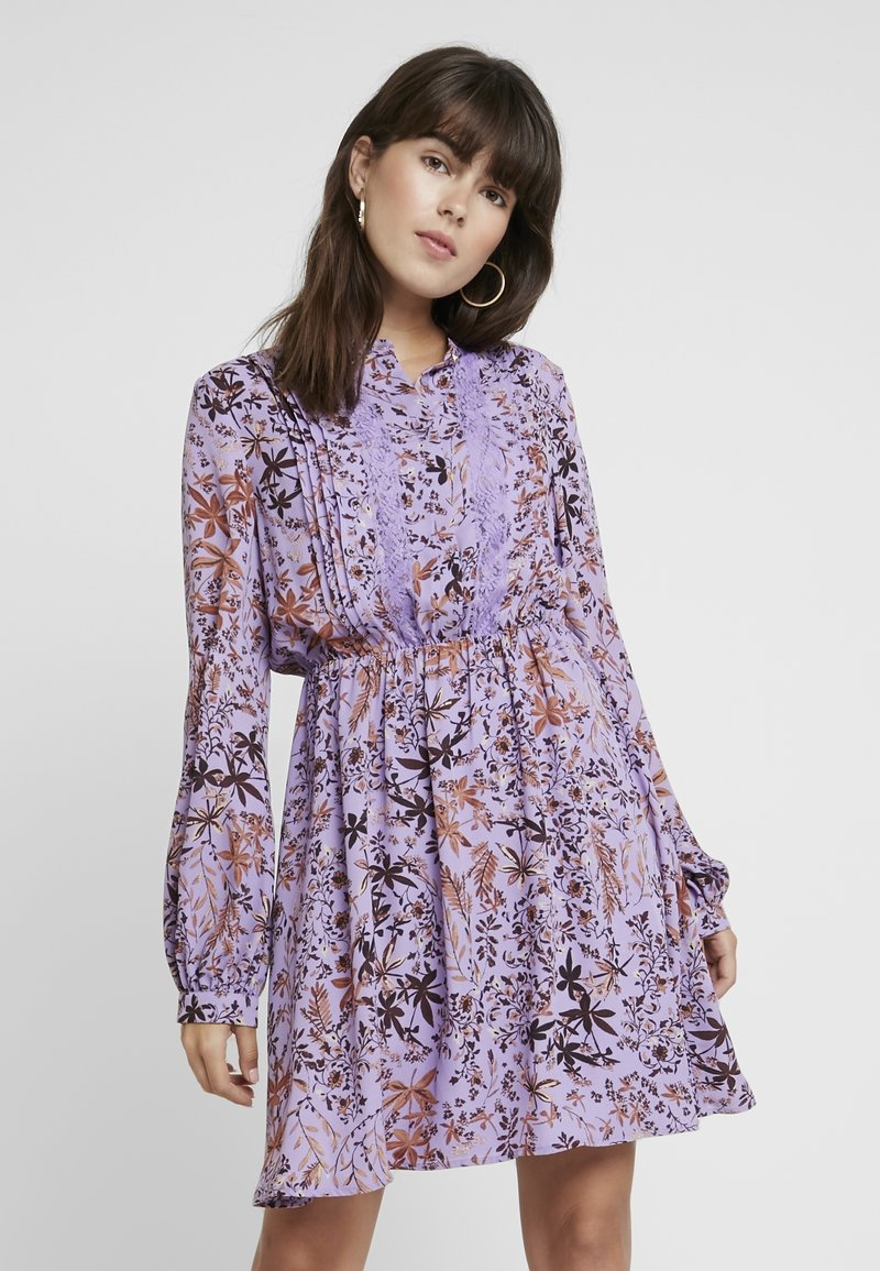 Liu Jo Jeans - ABITO SHORT DRESS - Shirt dress - purple