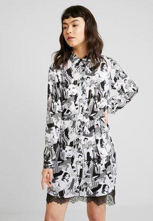 ABITO - Robe chemise - black/white