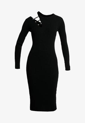 ABITO MAGLIA BOTTONI - Shift dress - nero