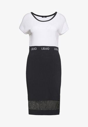 ABITO MAGLIA - Shift dress - ottico/nero