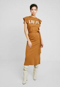 Liu Jo Jeans - ABITO UNITA - Jersey dress - deer/loto - 0