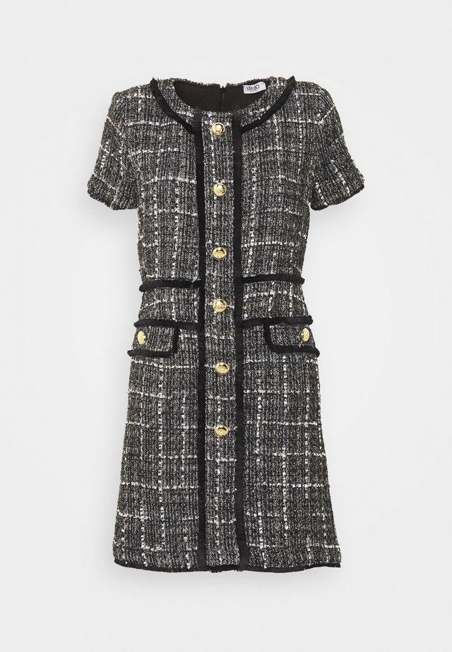 ABITO - Sukienka letnia - nero/bianco/oro