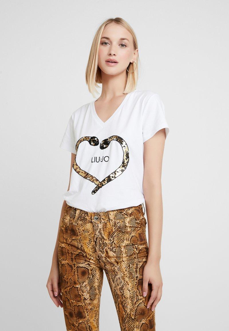 Liu Jo Jeans - MODA - Print T-shirt - bianco ottico