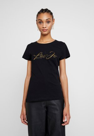 MODA - T-shirts med print - nero/gold