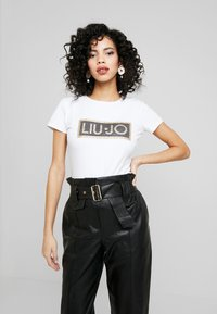 Liu Jo Jeans - T-shirt med print - bianco ottico - 0