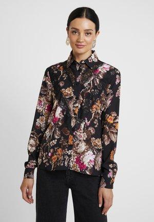 CAMICIA PURE - Button-down blouse - black