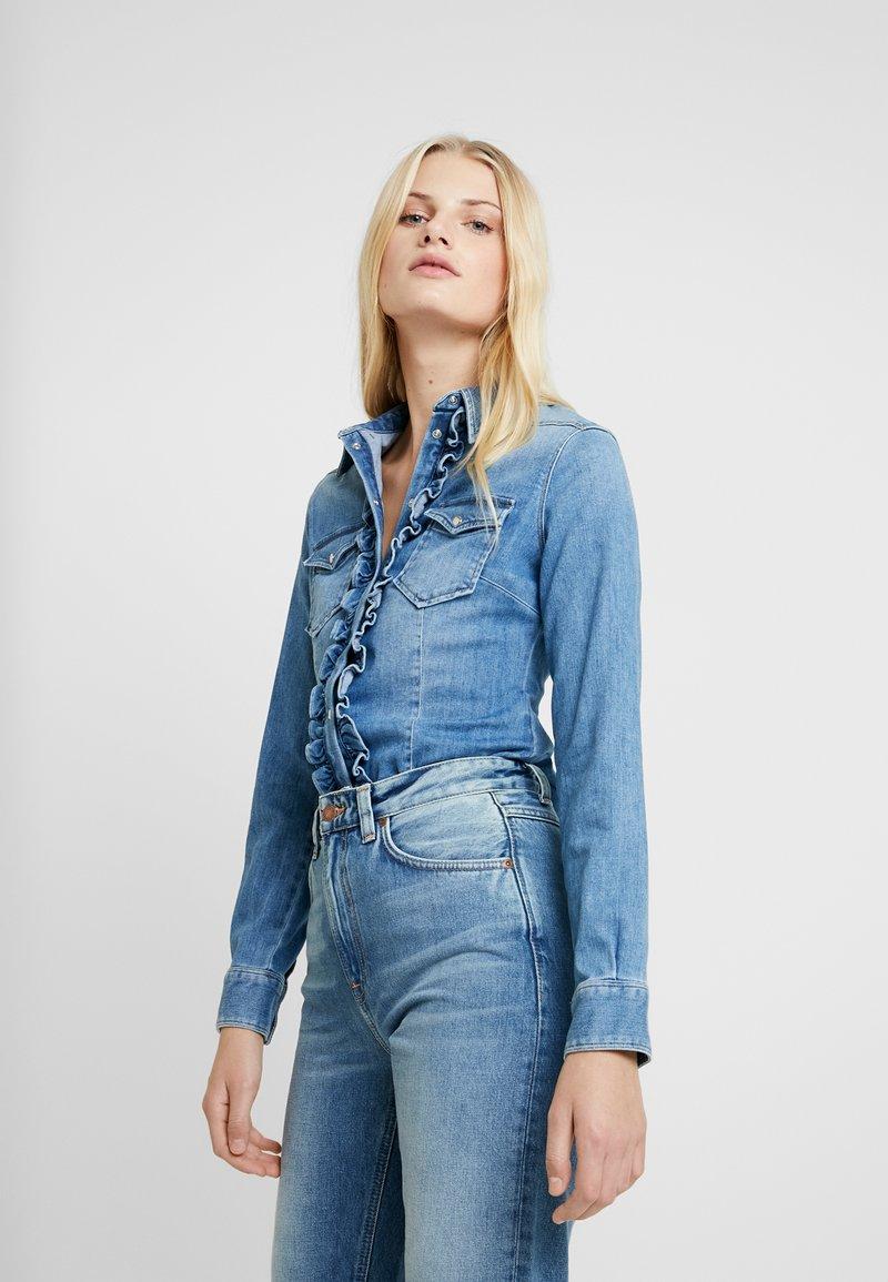 Liu Jo Jeans - ECS CAMICIA ROUCHES - Camisa - blue denim