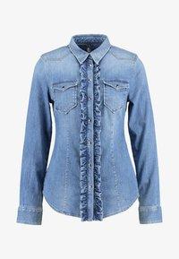 Liu Jo Jeans - ECS CAMICIA ROUCHES - Camisa - blue denim - 4