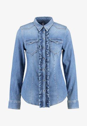 ECS CAMICIA ROUCHES - Camisa - blue denim