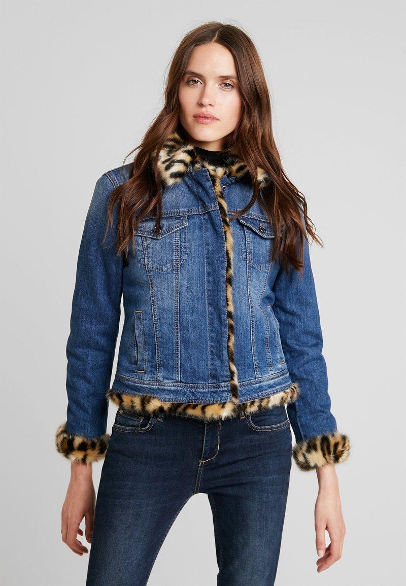 Liu Jo Jeans - GIUBBINO RIDER - Jeansjacke - denim blue
