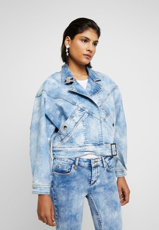 GIUBBINO WRAP - Kurtka jeansowa - blue contrast