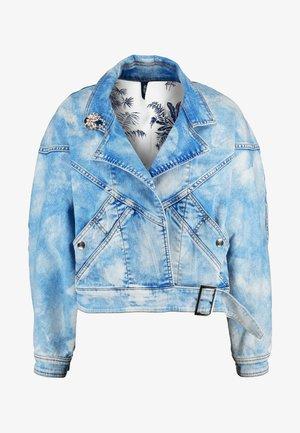 GIUBBINO WRAP - Giacca di jeans - blue contrast