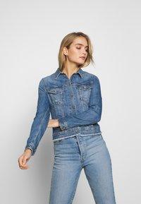 Liu Jo Jeans - GIUBBINO RIDER - Denim jacket - blue - 0