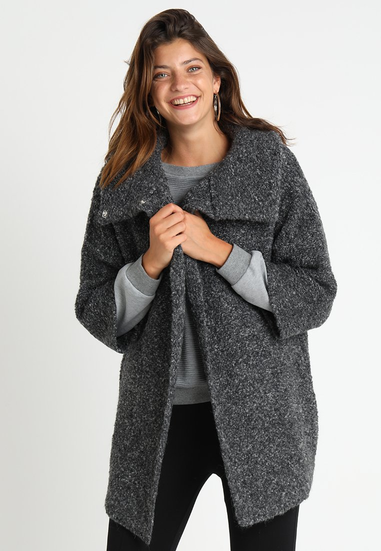 Liu Jo Jeans - CAPPOTTO MOULINE - Short coat - dark grey