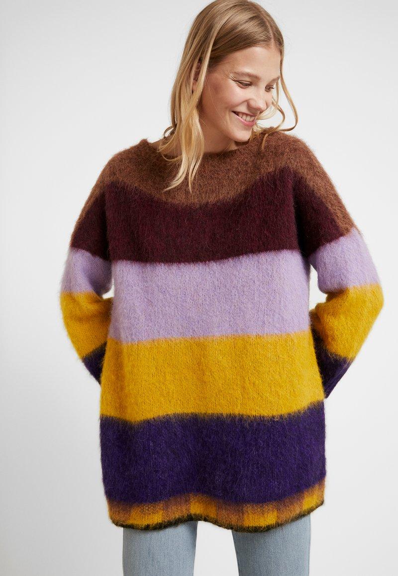 Liu Jo Jeans - MAGLIA CHIUSA GARZATA - Pullover - multicolors