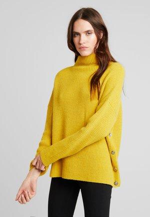 MAGLIA CHIUSA  BOTTONI - Svetr - light yellow