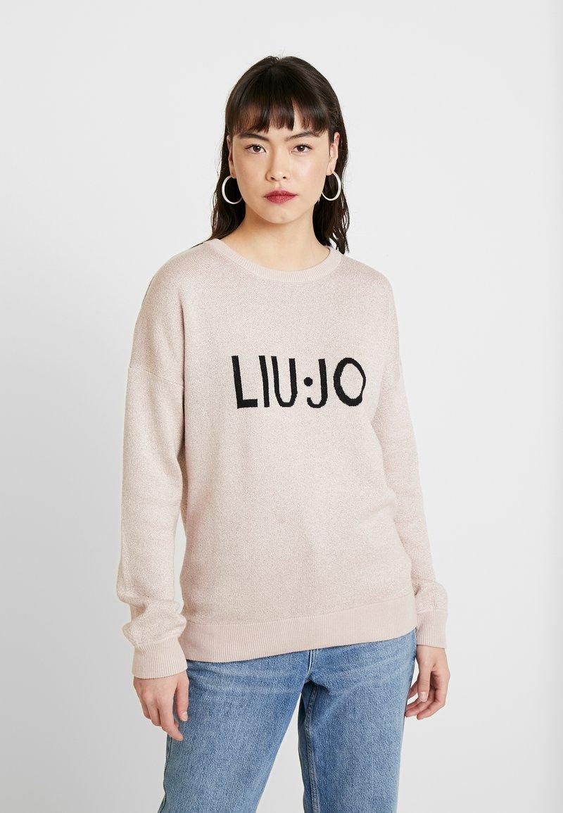 Liu Jo Jeans - MAGLIA CHIUSA LOGO - Strickpullover - meg rose