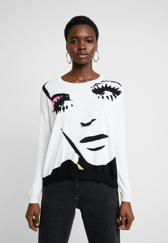 MAGLIA - Strickpullover - white pop face