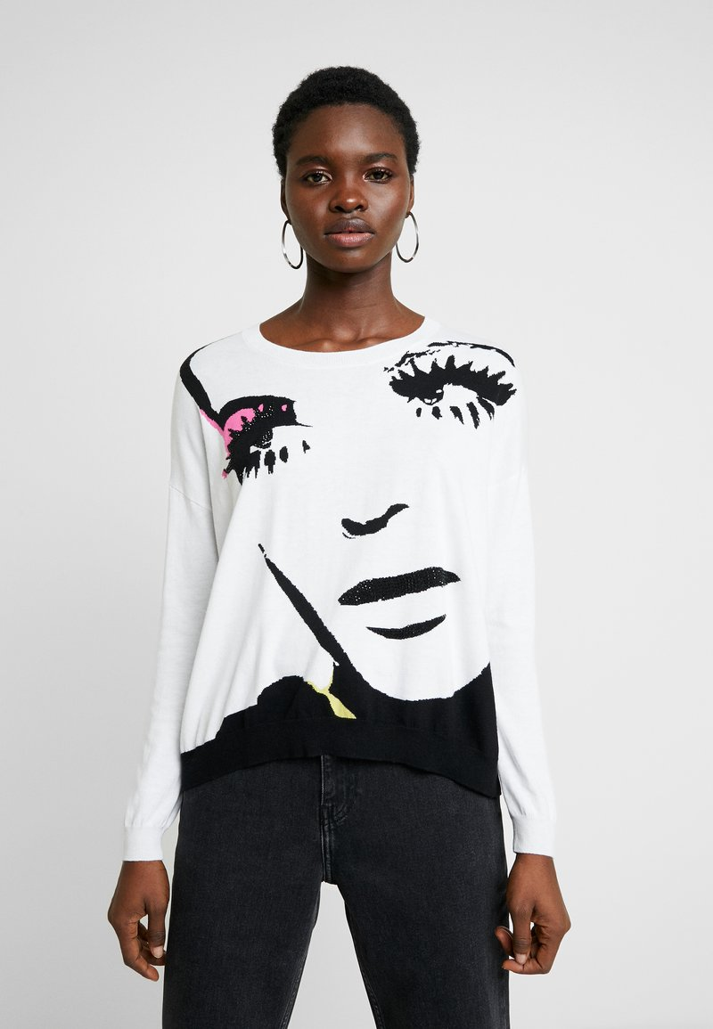 Liu Jo Jeans - MAGLIA - Jersey de punto - white pop face