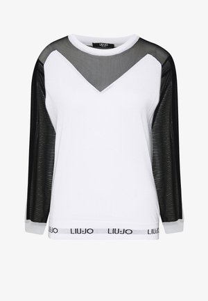 MAGLIA CHIUSA - Stickad tröja - white/black